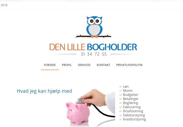Billig WordPress Hjemmeside til denlille-bogholder.dk lavet af Dit Online Visitkort