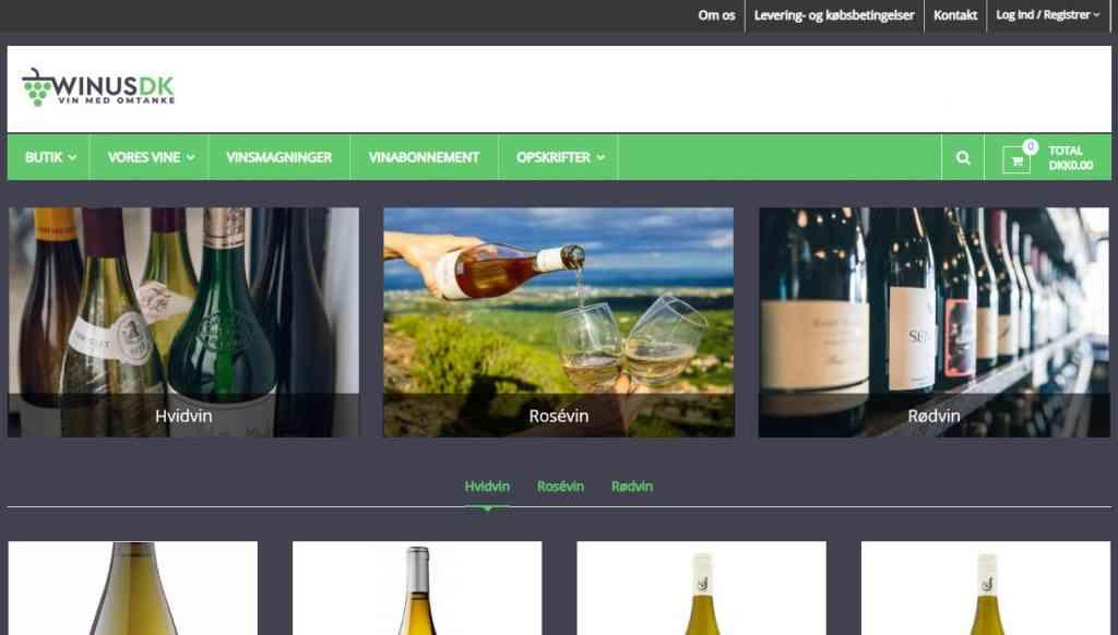 Billig WordPress Hjemmeside til Winus.dk lavet af Dit Online Visitkort