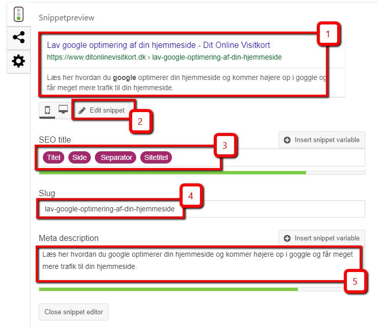Sådan opdaterer du dit meta-indhold med Yoast wordpress plugin og hjælper med google optimering